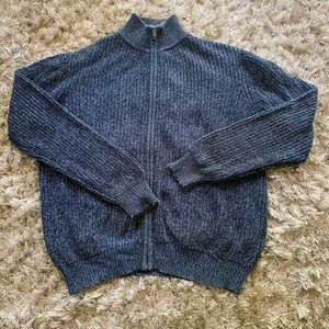 Men's L.L Bean Cotton Knit Full ZIP Sweater